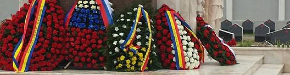 Coroane de flori Cimitirul Eroii Sovietici